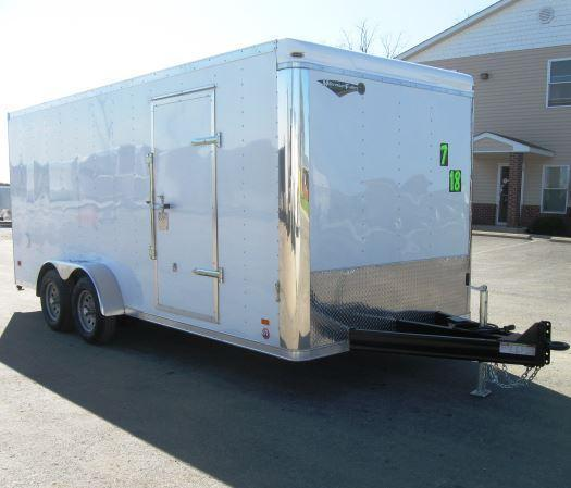 7'x18' Landscape Enclosed Trailer Professional Grade