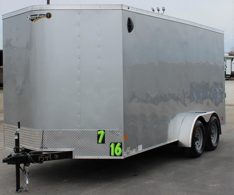 <b>Now Ready!</b>  7' x 16'  Millennium Passport V-Nose Trailer w/Ramp Door