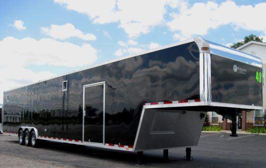 2017 48' Millennium Silver Enclosed Gooseneck Trailer