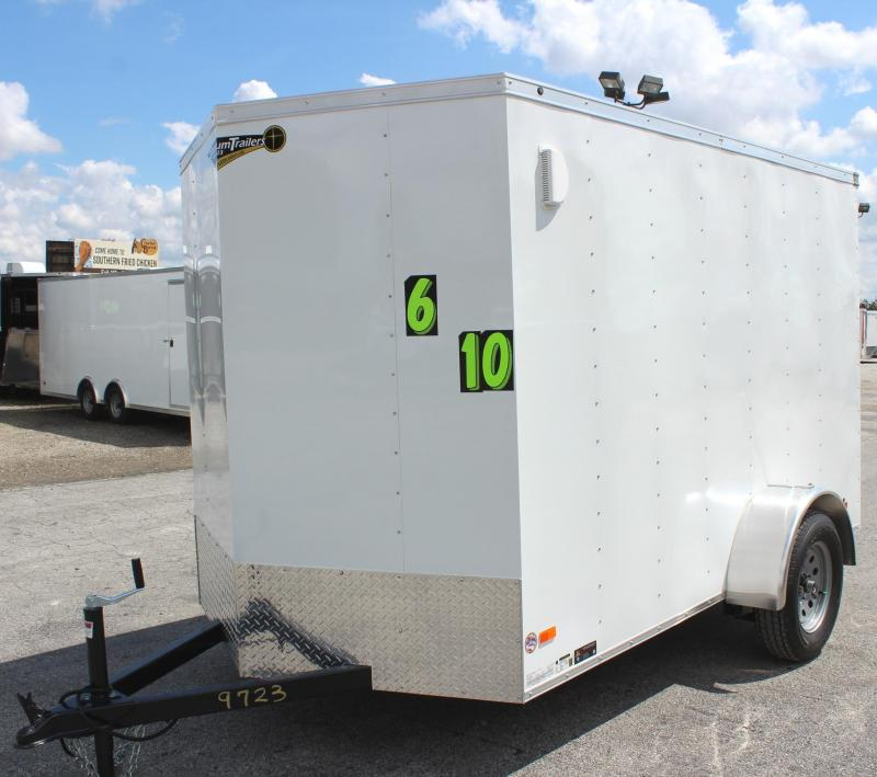 2020 6'x10' Hero Economy Enclosed Cargo Trailer with Ramp Door