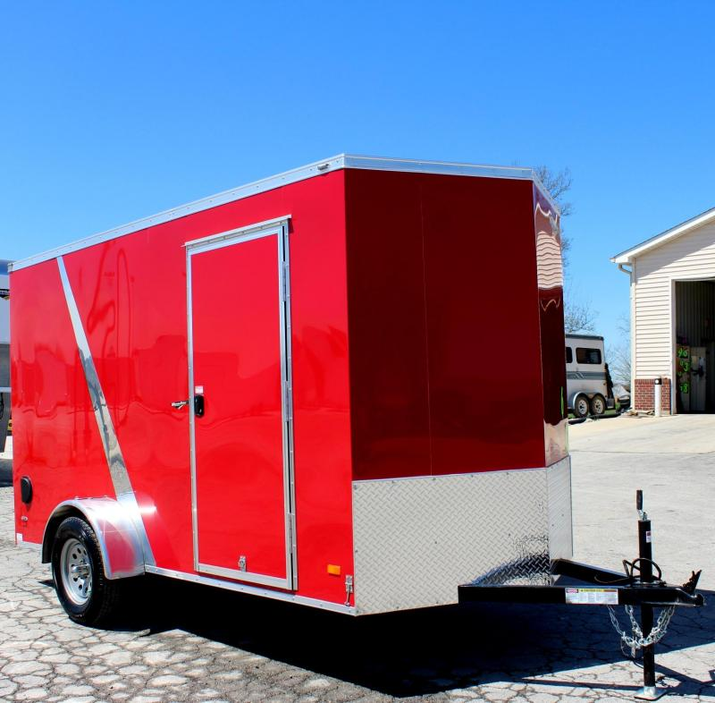 "<b>Now Available</b> 2018 6'x12' Scout Red Cargo Trailer with Plus Package/6"" Extra High  & Free Options"