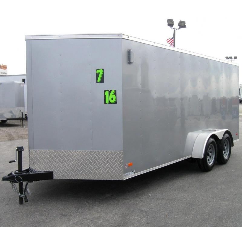7'x16' Budget Priced Hero Enclosed Cargo Trailer