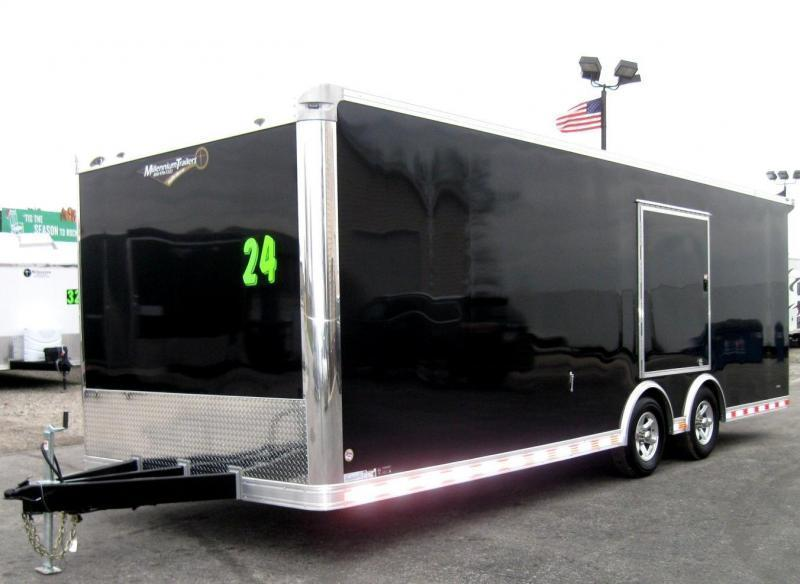 <b>Veteran's Day Sale NOW $17999</b> 2019 24' Millennium Extreme Race Car Enclosed Trailer w/Rear Wing & Escape Door