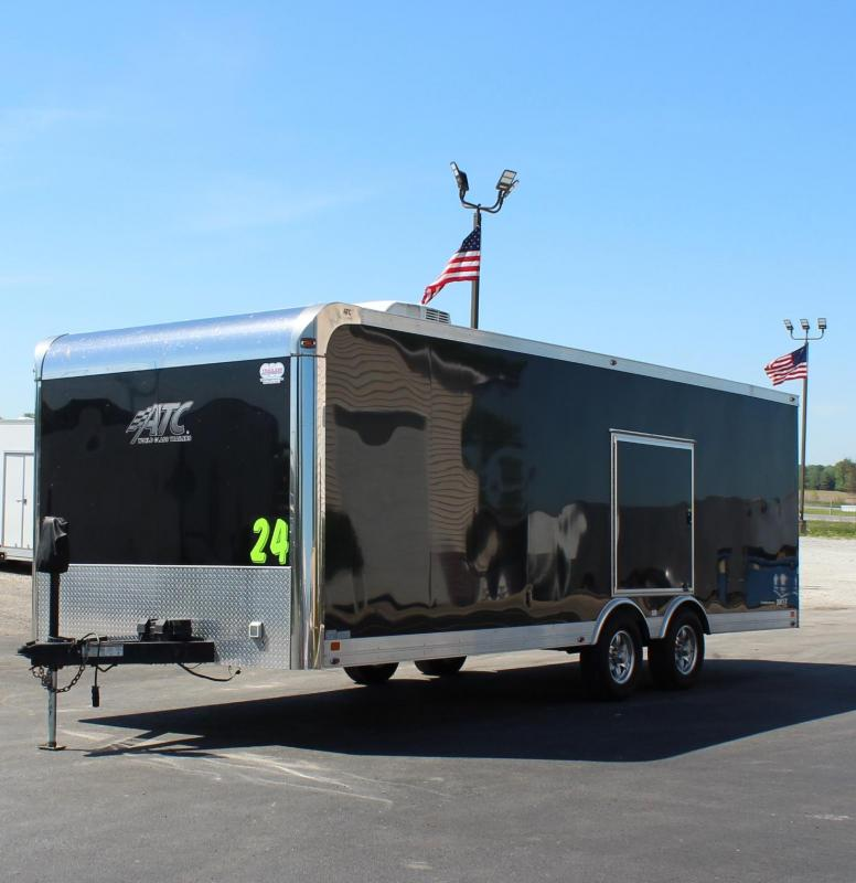 <b>SUPER NICE PRE-OWNED JUST ARRIVED</b> 2014 24' ATC Quest Car Trailer