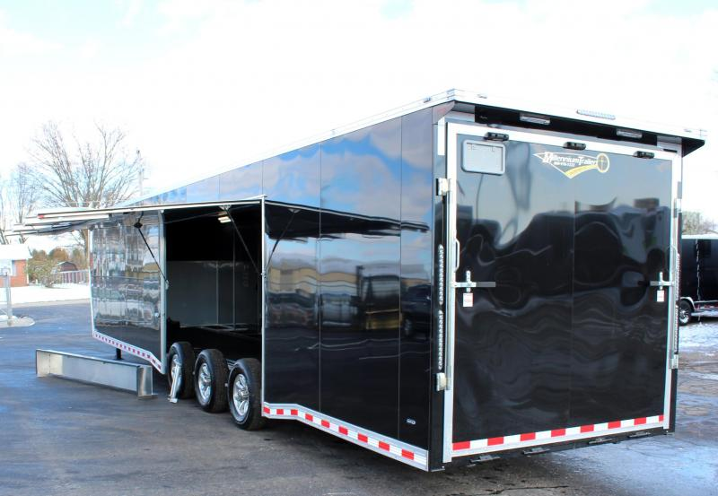 <b> Wide Car? Look at This One! </b> 2020 44' Millennium Extreme Removable Wheel Well LOADED OUT!