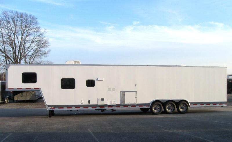<b>MONDAY FLASH SALE SAVE OVER $9k</b> 2019 44' Millennium Silver 12'XE Living Quarter Trailer