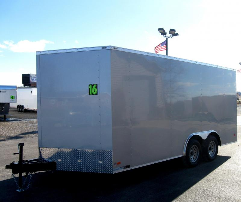 <b>CALL FOR PRICE</b> 8.5' x 16' V-Nose Scout Enclosed Cargo Trailer