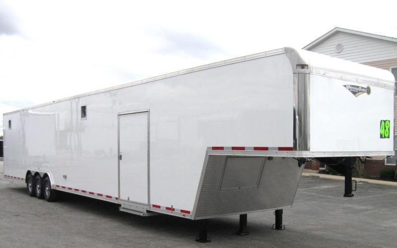 <b>Sale Pending</b>  2019 48' Millennium Silver Enclosed Gooseneck Trailer