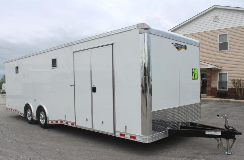 <b>BLOWOUT SALE</b>  2020 28' Millennium Extreme Race Trailer w/Wing & Spread Axles & Double Side Door