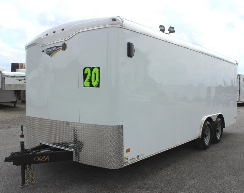 <b>Deluxe Interior Pkg</b>  2019 Screwless 20' Haulmark Transport Car / Racing Trailer