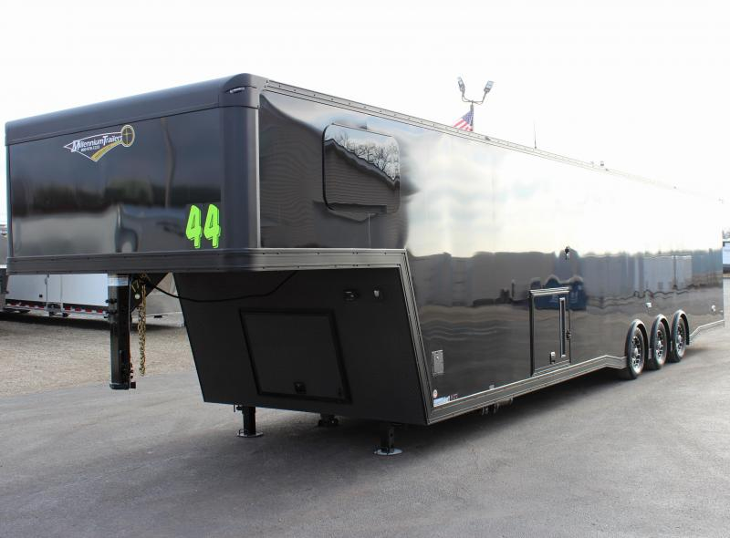 DON'T MISS THIS BLACK-OUT TRAILER 2020 44' LOADED GOOSENECK w/Luxury Bathroom