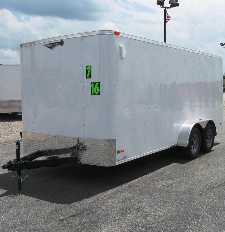 <b>CALL FOR PRICE</b> 7'x16' Hero Budget Enclosed Cargo Trailer