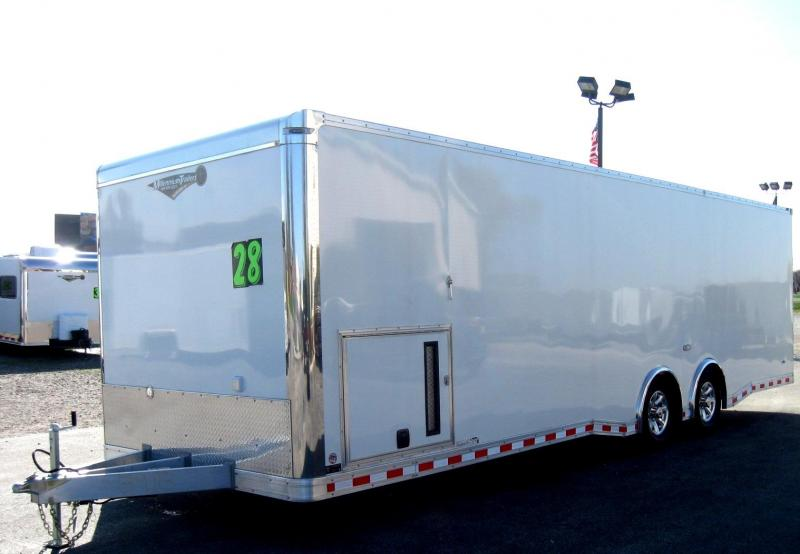 """2018 ALL ALUMINUM 28' NEW Extreme Black Cabinets/Pewter Walls/2-6000 Axles 6"""" Extra High"""