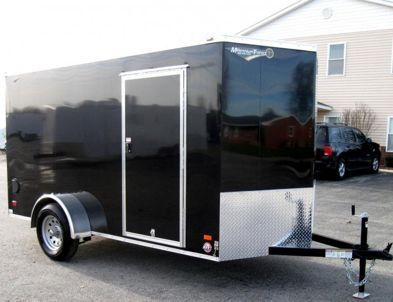 2018 6'x12' Scout Black Enclosed Cargo Trailer with Plus Package & Free Options