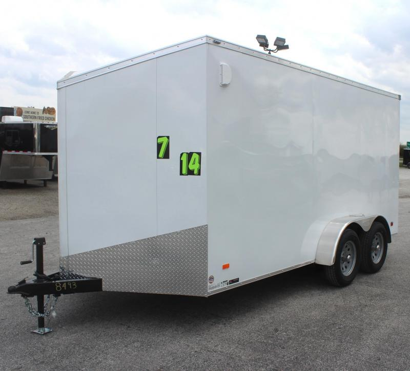 <b>CLEARANCE</b>  2020  7'x14' Scout Screwless Cargo with Ramp Door FREE OPTIONS