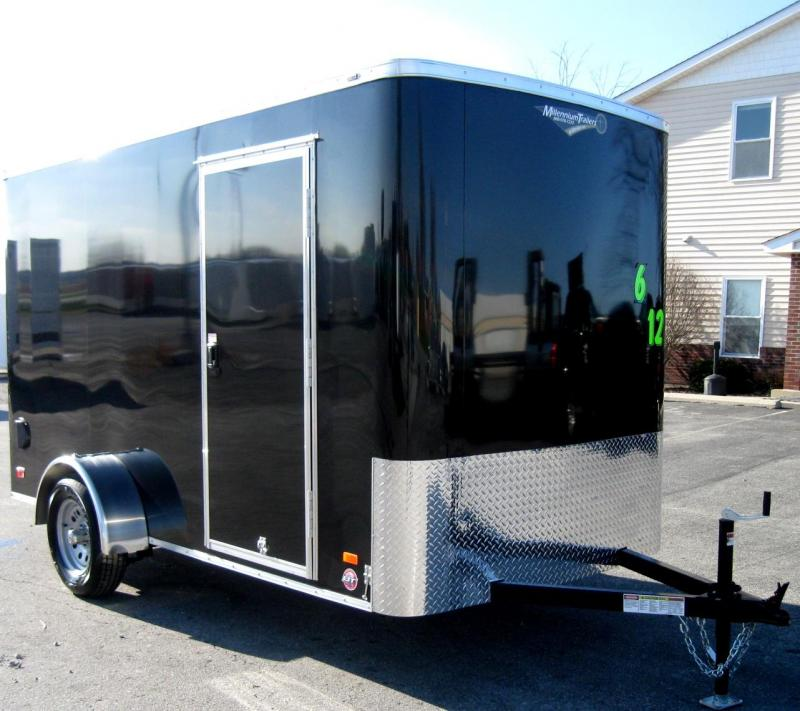 "<b> WINTER BLOW-OUT SALE SAVE $817 NOW $3685</b> 2018 6'x12' Scout Black Cargo Trailer w/ Plus Package/6"" Extra High  & Free Options"