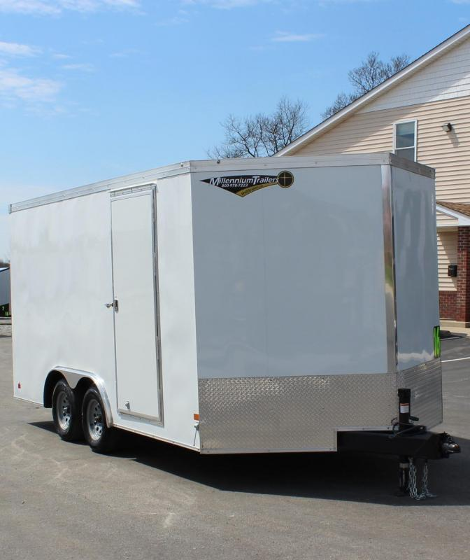 <b>Contractor Grade</b>  2020 8.5' x 16' Grizzly V-Nose Enclosed Trailer w/Ramp Door 6