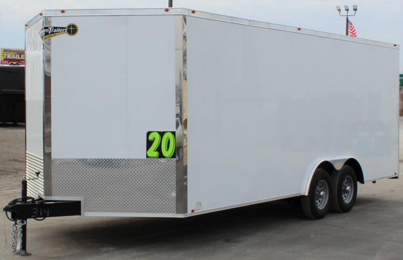 <b>NOW READY!</b>  2020 20' Millennium  Chrome Enclosed Trailer