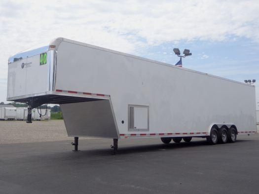 2016 40' Millennium Silver Enclosed Gooseneck Trailer