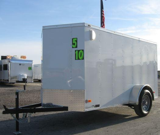 <b>CLEARANCE</b> 2019 5x10 Scout Enclosed Cargo Trailer w/Ramp Door and FREE UPGRADES