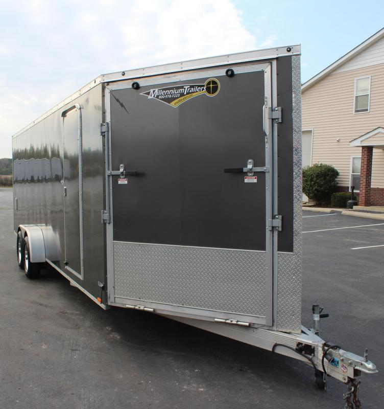 <b>2019 Liquidation Special Sale</b> Pre-Owned Aluminum Snowmobile Trailer 2018 7' x 29' Lightning  with Alum Wheels