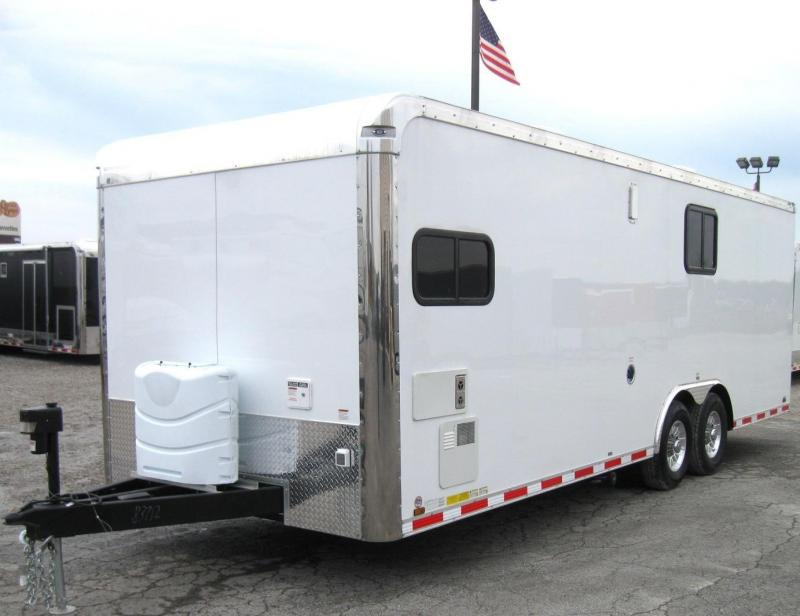 24'  Millennium Toy Hauler with Living Quarters Diamond Ice Cabinets