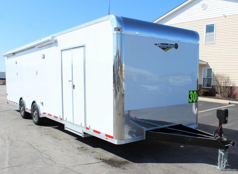 <b>SUPER LOADED</b> 2020 30' Millennium Platinum Car Trailer Electric Awning & A/C + MORE
