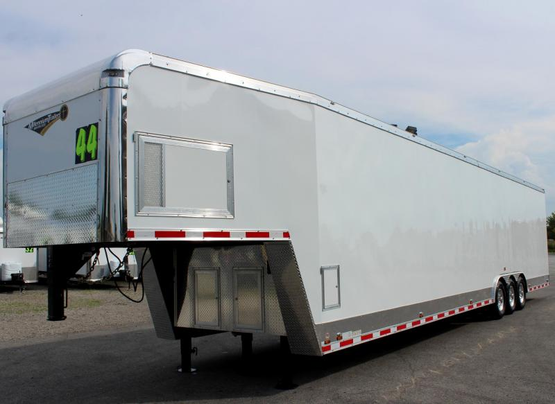 <b>SOLD/MAKING MORE</b>  Dragster Pkg. Now Available 2020 Loaded 44' Millennium Auto Master Enclosed Gooseneck Race Trailer