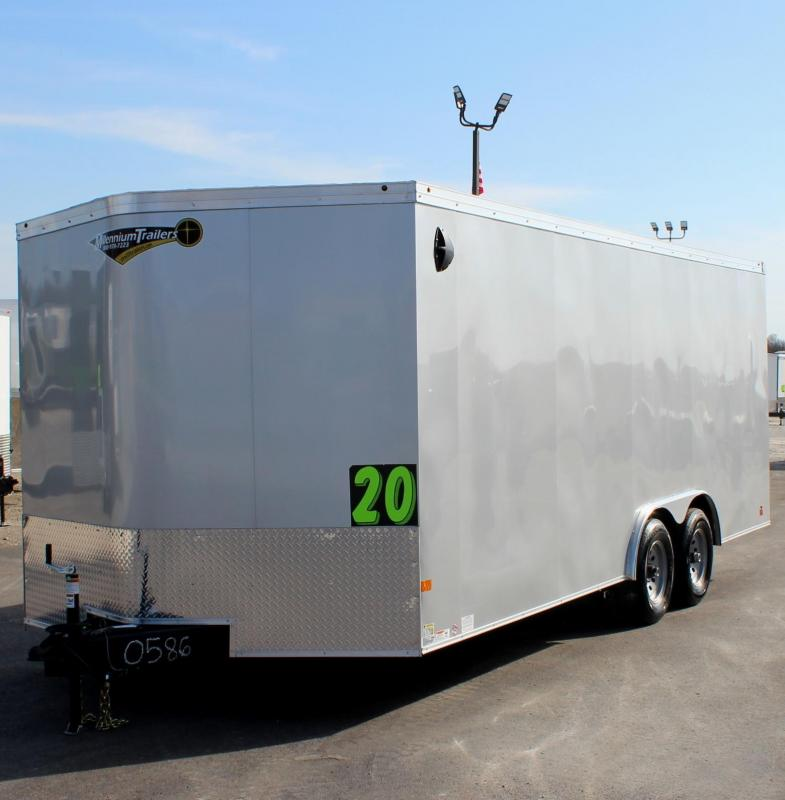 <b>SALE PENDING</b>  2020 20' Transport V Car Trailer w/Heavy Duty 5200# Axles & Screwless Exterior