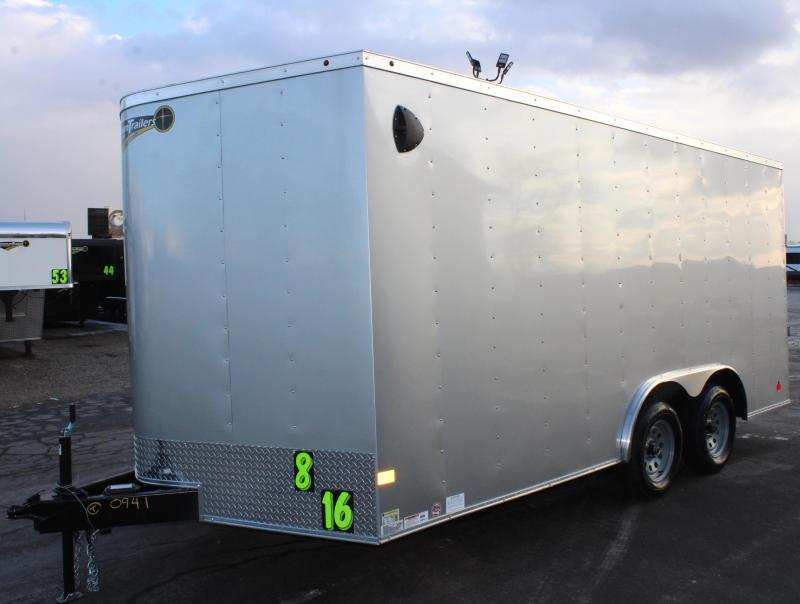 <b>Smart Value </b> 2020 8.5' x 16' V-Nose Passport Medium Duty Ramp Door 4-D-rings Installed