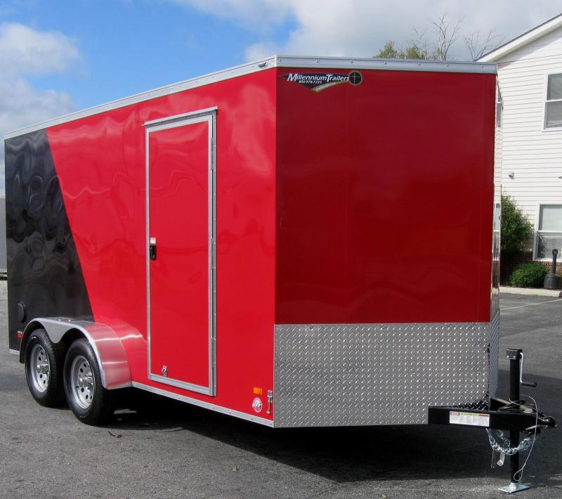 <b>CALL FOR PRICE</b> 2020 7'x14'  Scout Cargo Trailer 2-Tone with Plus Pkg.