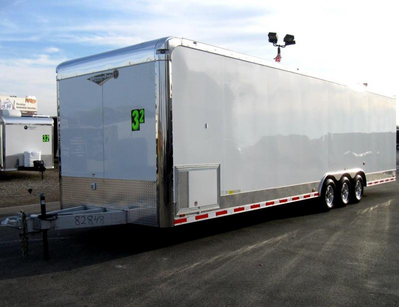 <b>CALL FOR PRICE</b> All Aluminium 32' Millennium Enclosed Race Car Trailer LOADED