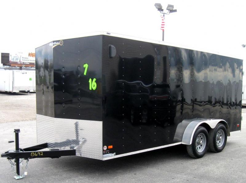 7'x16' Scout Enclosed Cargo with Double Doors