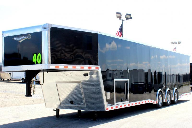 2019 40' Millennium Extreme Gooseneck Enclosed Trailer w/Tapered Nose & Loaded Out!
