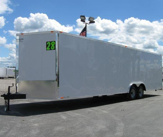 <b>BLACK FRIDAY ONLY $8299 Save $1600 Off MSRP</b>  2017 28' Millennium Chrome Enclosed Trailer