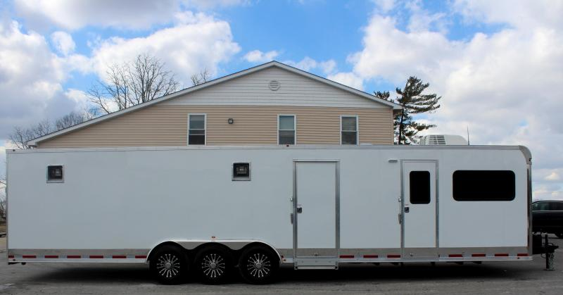 <b>LOOK! 22' Garage Area</b> 2019 34' Millennium 12'XE Living Quarters 20' Cargo Area Enclosed Trailer