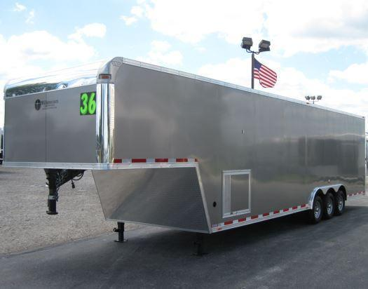 2016 36' Millennium Silver Enclosed Gooseneck Trailer