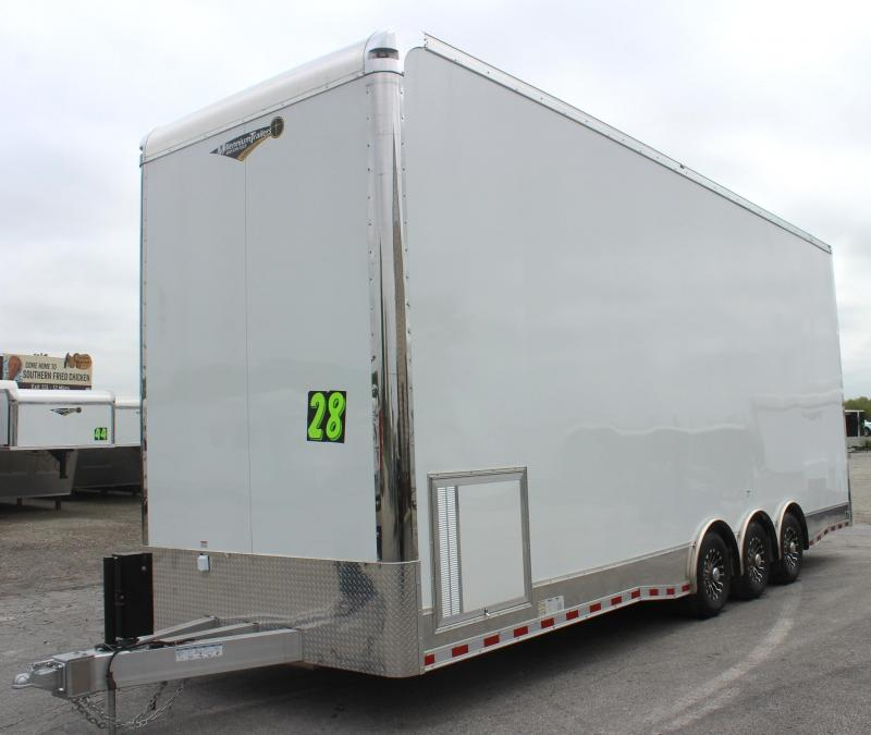 <b>Super Loaded Stacker Now Ready</b> 2019 28' Aluminum Millennium Stacker Trailer Spread Axles 3/7000K