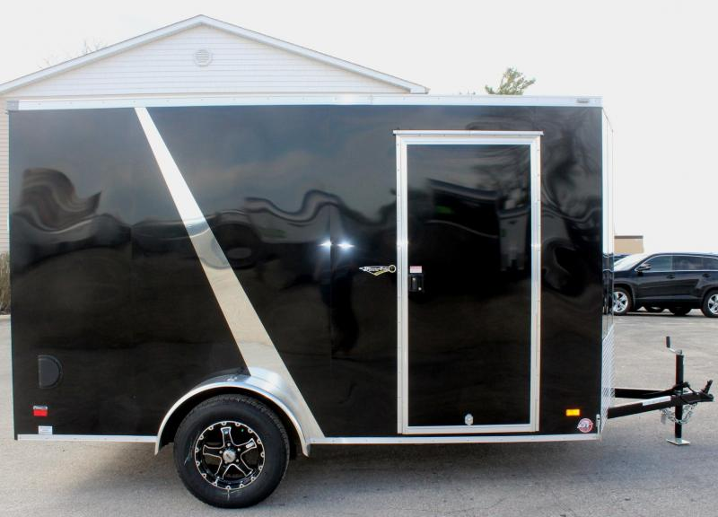 <b> Motorcycle Trailer</b> 2019 6'x12' Scout Enclosed Trailer 3 Packages & Free Options