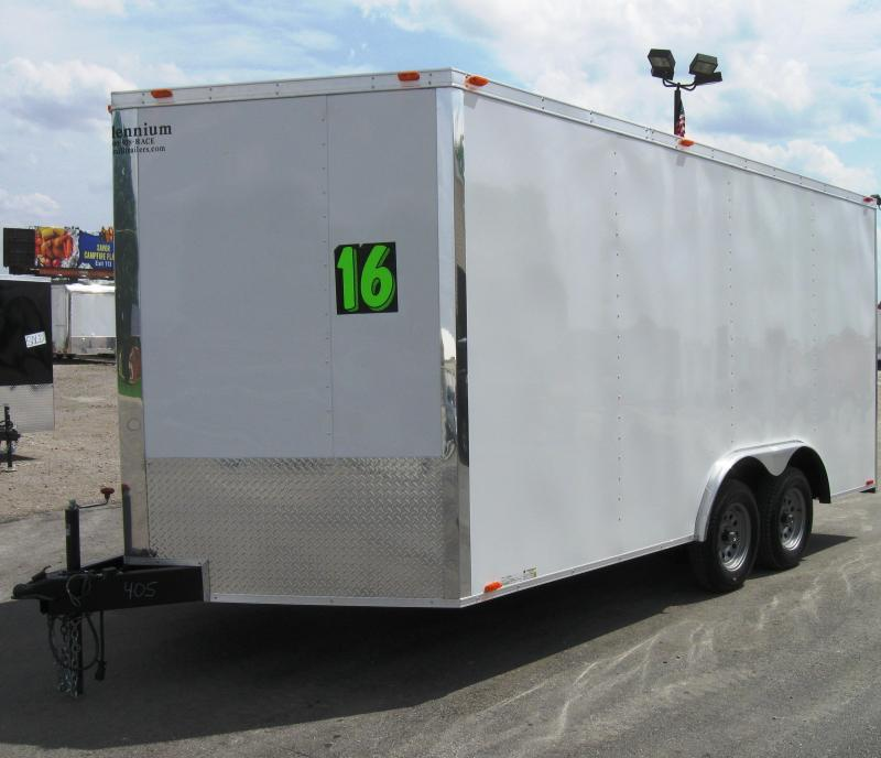 2016 8.5x16 Millennium Chrome Enclosed Trailer
