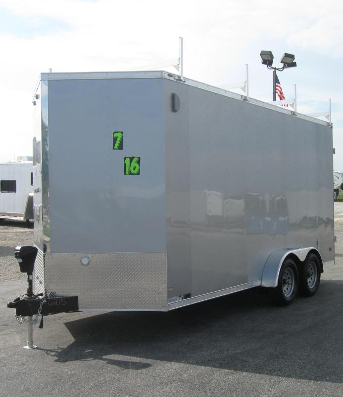 2017 7'x16' Star Enclosed Cargo Trailer Contractors Dream!