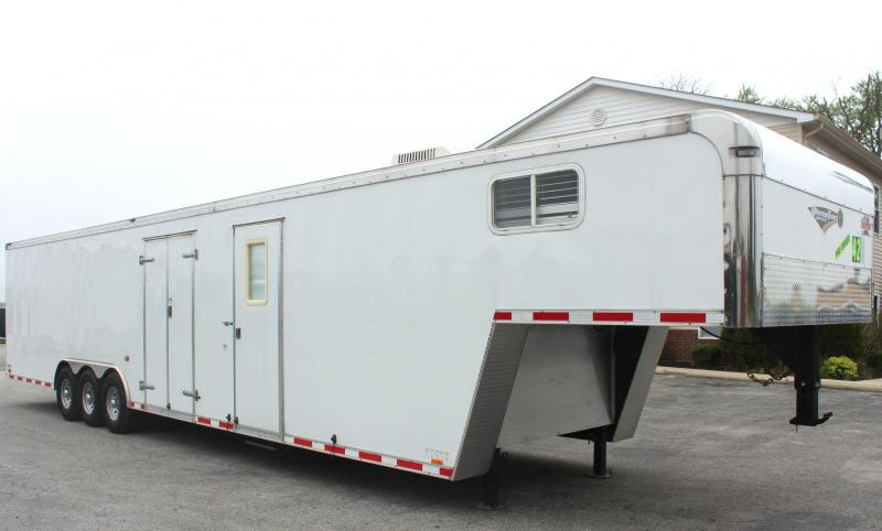 <b>Pre-Owned GN w/Lounge WON'T LAST!</b> 2013 42' Cargo Mate Eliminator Car / Racing Trailer w/Lounge