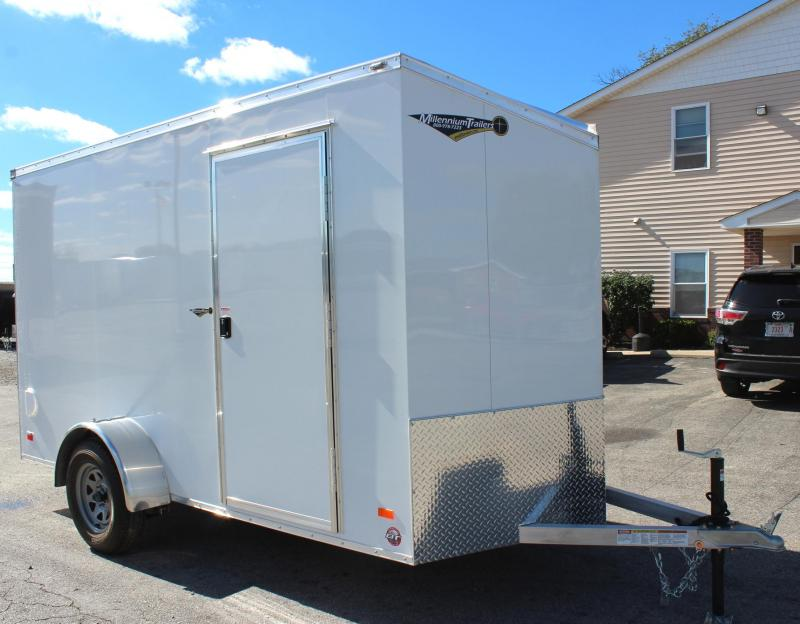 <b>CLEARANCE LAST ONE! </b> 2019 6' x 12' All Aluminum Scout Cargo w/Free Alum Wheels