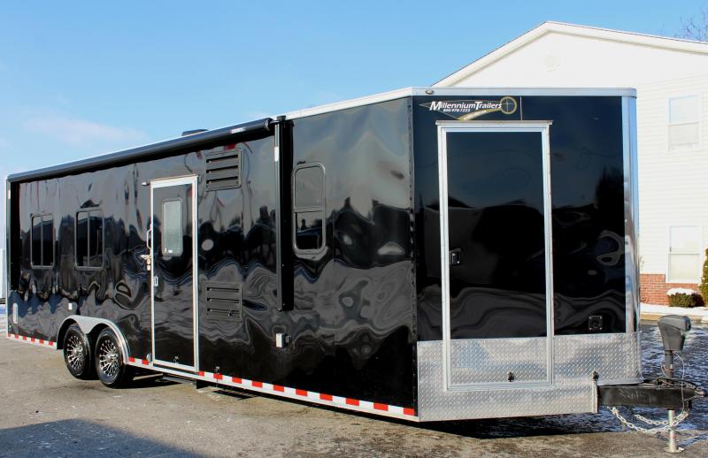 <b>Sold</b>  26' Millennium Toy Hauler w/Living Quarters w/Weather Pro Electric Awning