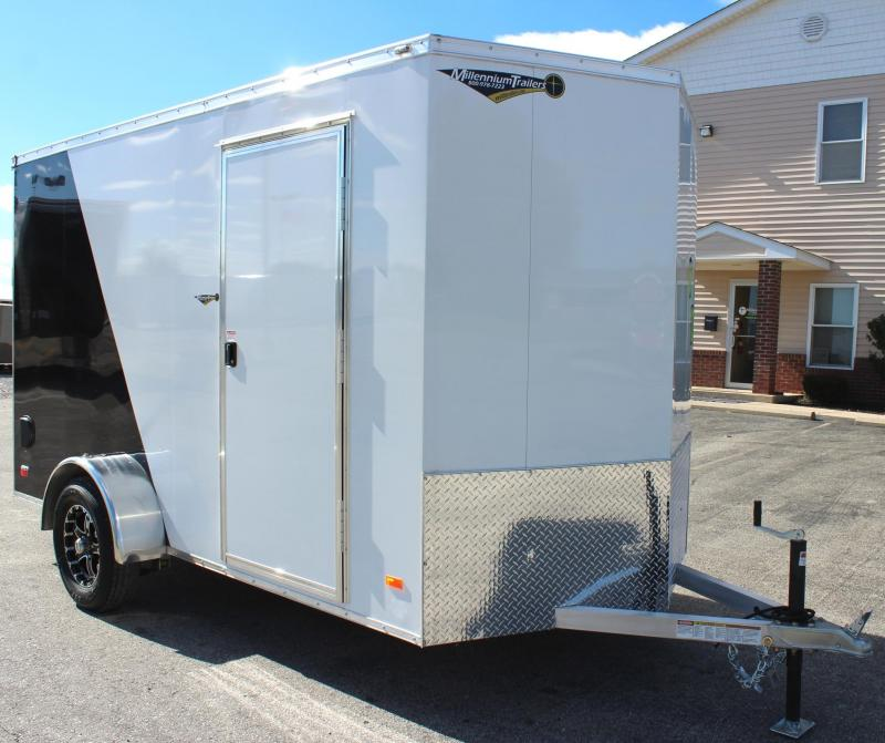 <b>OVERSTOCK SALE SAVE $1200 off MSRP NOW $4699</b> 2019 6' x 12' All Alum Scout Cargo Trailer w/Free Upgrades Alum Wheels & Ramp Door