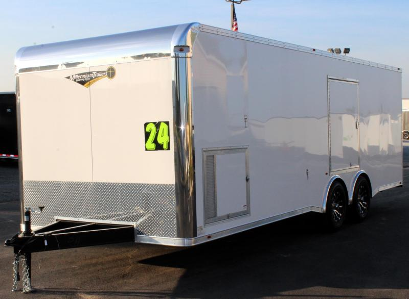 2020 24' Silver Enclosed Trailer with Escape Door/Spread Axles