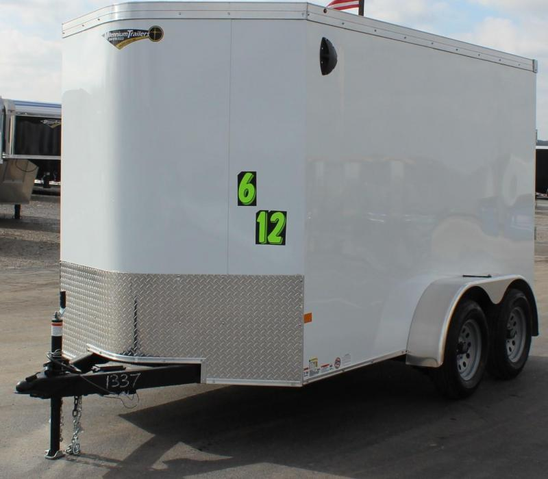 <b>TANDEM AXLE</b> 2020 6'x12' V-Nose Millennium Transport Enclosed Cargo Trailer