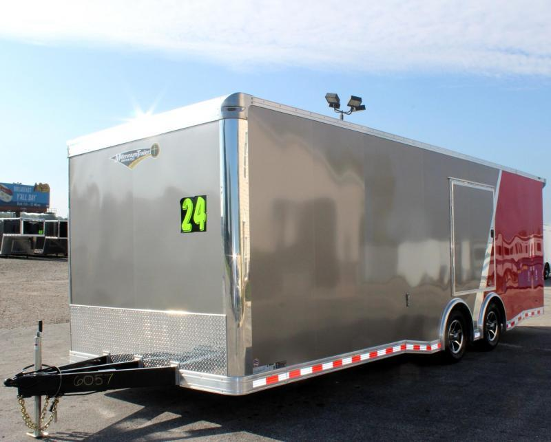 <b>Now Available</b> 2019 2-Tone 24' Millennium Extreme Enclosed Race Trailer w/Spread Axle & Wing