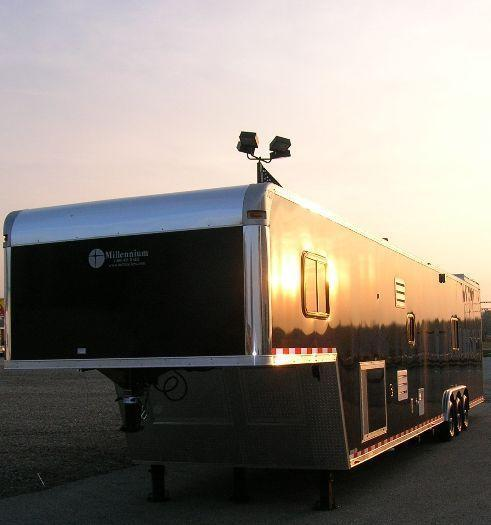 Custom Command Center Enclosed Gooseneck Trailer