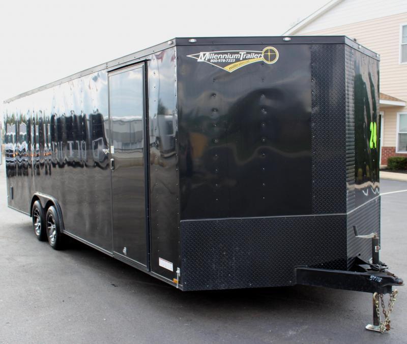 <b>SALE PENDING Pre-Owned Black-Out Pkg</b> 2017 24' Diamond Cargo Race Trailer Alum Wheels